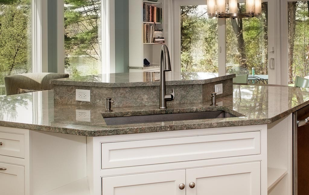 Amazing Water Views From This Multi Level Island, The Sink Is Angled To  Provide Maximum Function Of The Work Center.